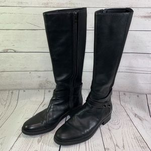 Coach Essex Black Leather Tall Riding Boot Sz 9.5B